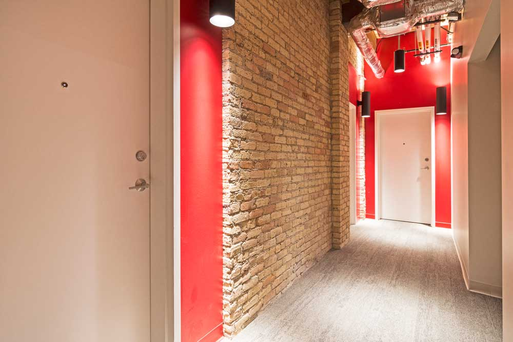 Hallway with Apt Doors